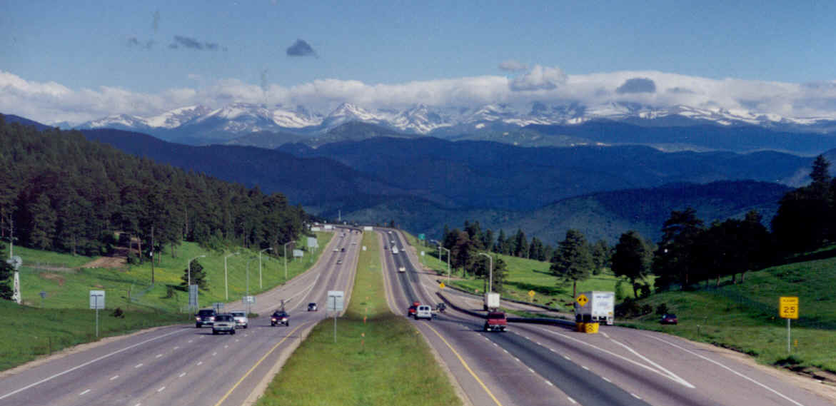 I-70 Westbound at Genesee Mountain in Colorado