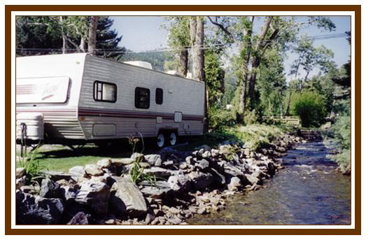 RV Colorado park by the stream