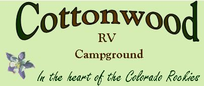 Cottonwood RV Campground in Idaho Springs Colorado logo